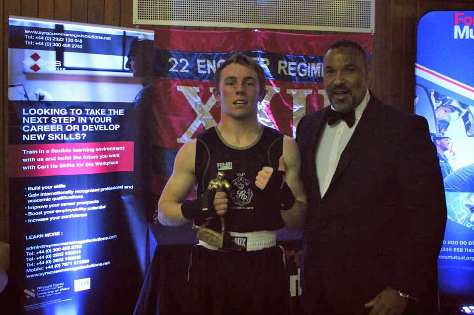 Ian Spence SMS Training at22 Engineer Regiment Annual Regimental Boxing Tournament